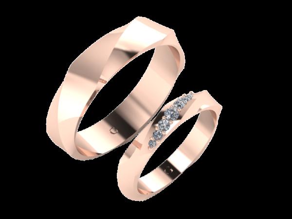Zlaté snubní prsteny TWIST
