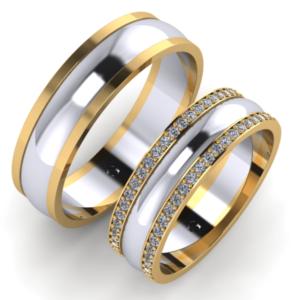 Zlaté snubní prsten Stone Belt