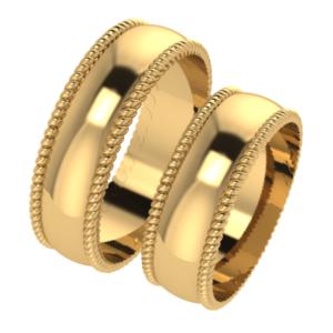 Zlaté snubní prsteny Hips