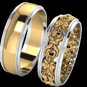 Zlaté snubní prsteny Serment