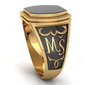 Zlatý pánský prsten s polodrahokamy Tommaso
