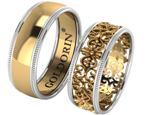 Zlaté snubní prsteny Amour
