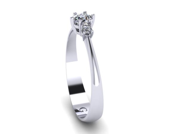 Zlatý dámský prsten Diabreckl