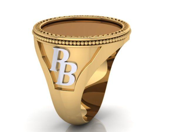 Zlatý pánský prsten Monoagram