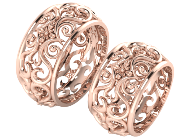 Zlaté snubní prsteny Catherine