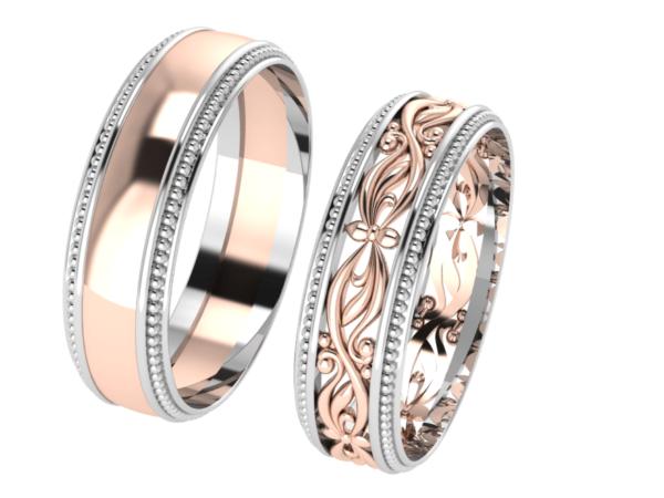 Zlaté snubní prsteny Ensemble