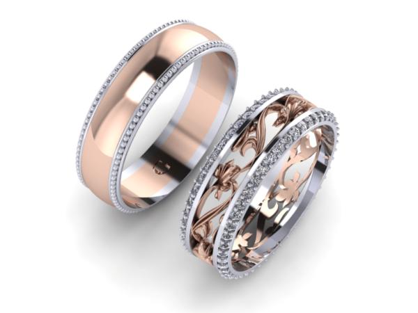 Zlaté snubní prsteny Fantazie narrow