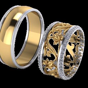 Zlaté snubní prsteny Fantasie