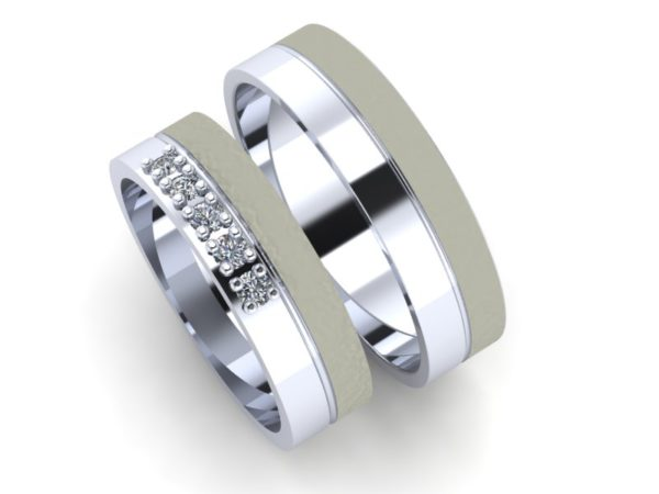 Zlaté snubní prsteny Basic 1