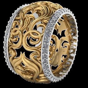 Zlatý dámský prsten Lilly