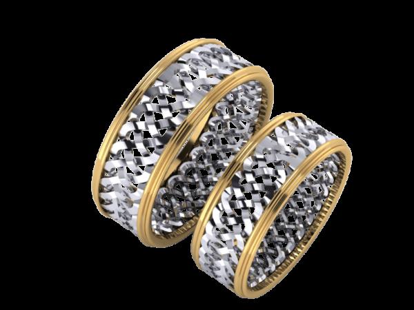 Zlaté snubní prsteny Patricie light