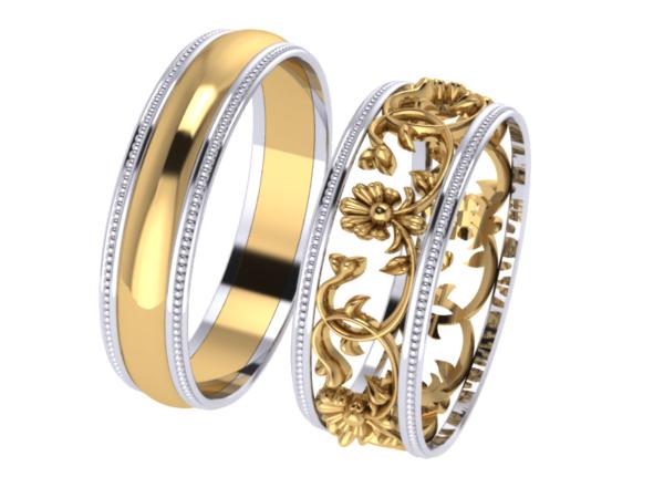 Zlatý dámský prsten Mercedes