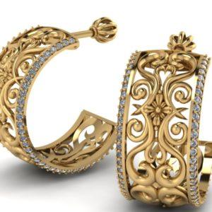 Zlaté dámské náušnice Mosner
