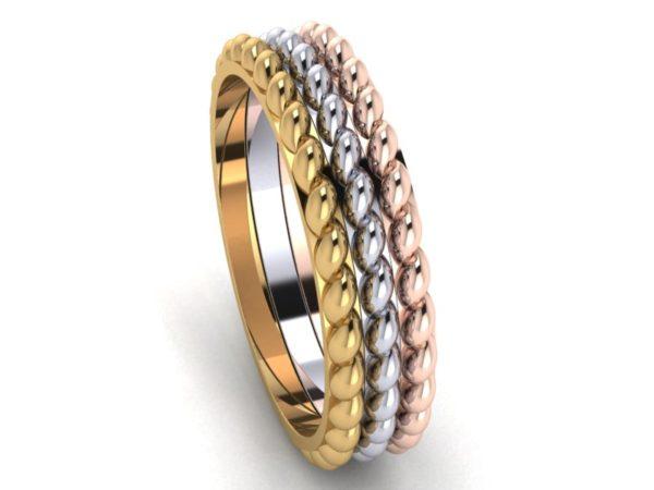 Zlatý dámský prsten RAIBOW