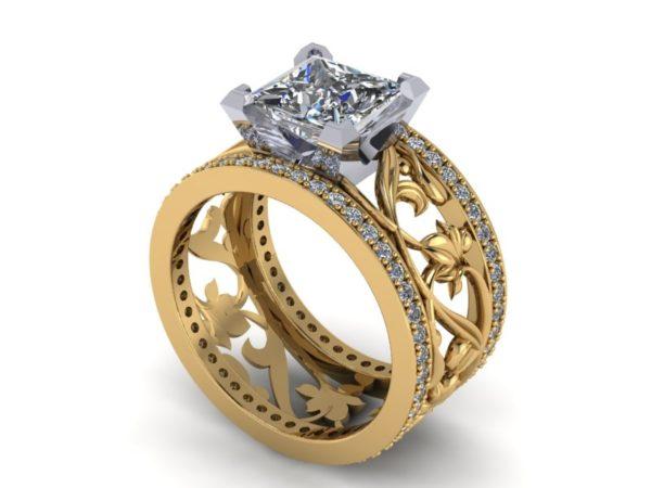 Zlatý dámský prsten PARIS