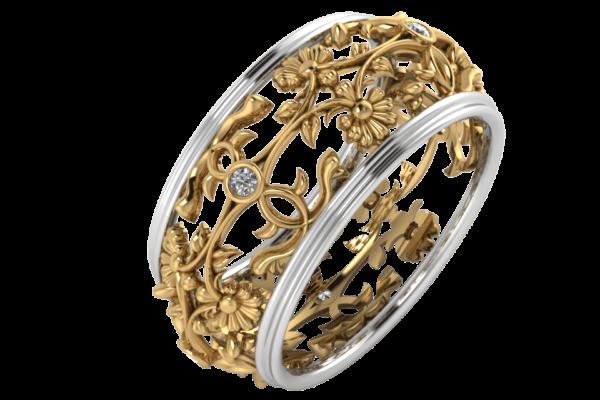 Zlatý dámský prsten Princessen
