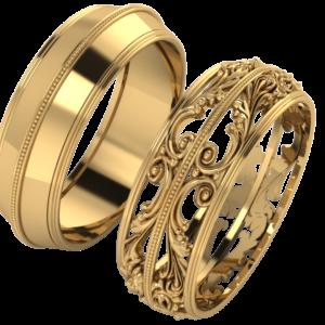 Zlaté snubní prsteny Raquel