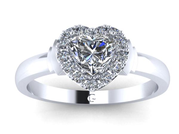 Zlatý dámský prsten Diaheart