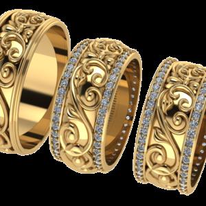 Zlaté snubní prsteny Sofie 2