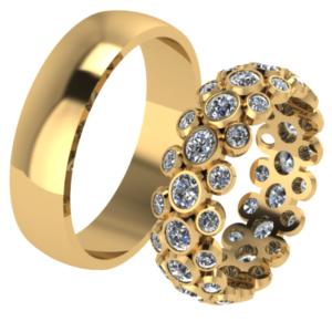 Zlaté snubní prstenyTango