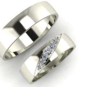 Zlaté snubní prsteny Basic 2