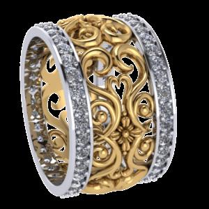 Zlatý dámský prsten Catherine